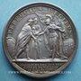 Coins Le roi d'Angleterre refugié en France. 1689. Médaille en argent. 41 mm. Gravée par Mauger