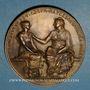 Coins Loi de Jules Ferry sur l'enseignement secondaire des jeunes filles. 21 déc. 1880. Médaille bronze