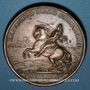 Coins Louis XIV. Prise de Brisach. 1703. Médaille cuivre. 41,3 mm