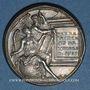 Coins Louis XIV, roi de France (1638-1715). Médaille argent gravée par Dassier