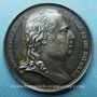 Coins Louis XVIII (1814-1824). Médaille en argent. 32 mm. Gravée par Depaulis