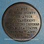 Coins Louis XVIII. Rétablissement de la statue d'Henri IV 1817. Médaille bronze 32,7 mm gravée par Gayrard