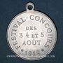 Coins Luxeuil-les-Bains (Franche-Comté, Haute-Saône). Festival-concours 1912. Médaille en aluminium