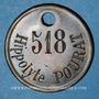 Coins Lyon. Atelier de Construction de Lyon. Plaque d'accès. Bronze. 36 mm