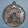 Coins Lyon. Notre Dame de Fourvières. Confrérie du Saint Rosaire. 1859. Médaille bronze