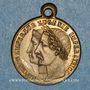 Coins Mariage de l'empereur Napoléon III et de l'impératrice Eugènie. 1853. Médaille cuivre jaune