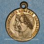 Coins Mariage de l'empreur Napoléon III et de l'impératrice Eugènie. 1853. Médaille cuivre jaune