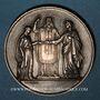 Coins Médaille de mariage. Argent. Gravée par Gayrard. Poinçon : main