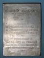 Coins Médecine. Claude Bernard (1813-1878). Plaquette aluminium. 1913