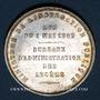 Coins Ministère de l'Instruction Publique. Bureaux d'administration des lycées. Médaille argent