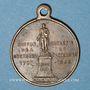 Coins Montbard (Bourgogne). Souvenir du centenaire de la mort de Buffon. 1888. Médaille en laiton