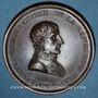 Coins Napoléon I. Paix de Lunéville. 1801. Médaille bronze. 42 mm. Gravée par Andrieu