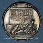 Coins Nicolas Malebranche, philosophe et théologien (1638-1715). Médaille argent gravée par Dassier