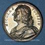 Coins Nicolas Poussin, peintre (1594-1665). Médaille argent gravée par Dassier