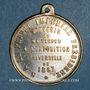 Coins Paris. Exposition universelle. 1867. Médaille laiton argenté. 27,65 mm