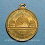 Coins Paris. Exposition Universelle de 1855. Médaille en cuivre jaune. 23,4 mm