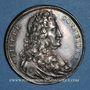 Coins Pierre Corneille, tragédien (1606-1684). Médaille argent gravée par Dassier