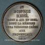 Coins René I d'Anjou, roi de Jérusalem, de Naples, de Sicile et d'Aragon, de Bar..., médaille cuivre 1819