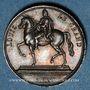 Coins Rétablissement de la statue équestre de Louis XIV à Lyon. 1825. Médaille argent