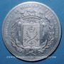 Coins Saint-Etienne. Exposition Industrielle. 1891. Médaille aluminium