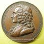 Coins Souscription aux oeuvres de Voltaire. 1820. médaille en bronze. 36,6 mm. Gravée par Caqué