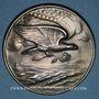 Coins Suisse. Gratitude des familles suisses au président et au peuple des USA. 1918. Médaille argent