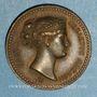 Coins Toscane. Elise Bonaparte, grande-duchesse (1809-1814). Médaille bronze. 23 mm.