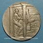Coins Union Syndicale des Tissus, matières textiles et habillellement. 1912. Médaille en argent