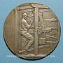 Coins Union Syndicale des Tissus, matières textiles et habillellement. 1934. Médaille en argent