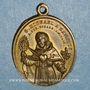 Coins Vatican. Pie IX (1846-1878). Dévotion à Saint Michel des Saints. (1846). Médaille bronze