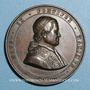 Coins Vatican. Pie IX (1846-1878). Incendie de la basilique St Paul en 1823. Médaille cuivre