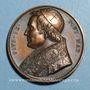 Coins Vatican. Pie IX (1846-1878). L'éternité de l'Eglise. 1846. Médaille cuivre