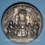 Coins Vatican. Pie IX (1846-1878). Sécession de l'Emilie 1860. Médaille en argent. 43,4 mm.