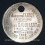Coins Verjux (Bourgogne, Saône et Loire). Augustin Farion et Anne Gaudillot. Médaille zinc nickelé. 1905