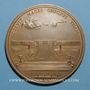 Coins Versailles. Louis XIV. 1687. Médaille bronze. Refrappe