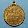 Coins Visite de la Reine Victoria et du Prince Albert. 1855. Médaille cuivre jaune à bélière