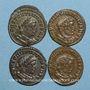 Coins Lot. Constantin I (307-337). 4 X Follis. Lyon, 312. R/: Génie