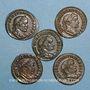 Coins Lot. Constantin I (307-337). 5 X Follis. Lyon, 310-311. R/: Génie