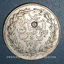 Coins Abdoul Hamid II avec Mohammed el-Sadok, bey (1293-1299H). 4 piastres 1290H, contremarqué