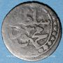 Coins Algérie. Mahmoud II (1223-1255H = 1808-1839). 1 kharoub 1238H (= 1823), Alger