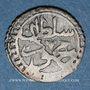Coins Algérie. Mahmoud II (1223-1255H = 1808-1839). 1 kharoub 1240H (= 1825). Alger