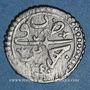 Coins Algérie. Mahmoud II (1223-1255H = 1808-1839). 1 kharub 1240H. Alger