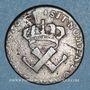 Coins Amérique. Louis XV (1715-1774). 9 deniers des colonies françises 1722H. La Rochelle