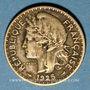 Coins Cameroun, Territoires sous mandat français (1919-45), 1 franc 1925