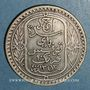 Coins Tunisie. Ahmed II, bey (1348-1361H = 1929-1942). 10 francs 1934