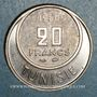 Coins Tunisie. Mohammed al -Amine, bey (1362-76H). 20 francs 1950. Essai