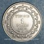 Coins Tunisie. Mohammed En-Naceur (1324-1340H). 1 franc 1916A