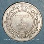 Coins Tunisie. Mohammed En-Naceur (1324-1340H). 1 franc 1917A