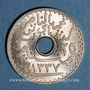 Coins Tunisie. Mohammed En-Naceur (1324-1340H). 25 centimes 1918. Essai
