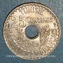 Coins Tunisie. Mohammed En-Naceur (1324-1340H). 25 centimes 1919